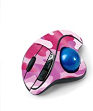 MightySkins Glossy Glitter Skin for Logitech M570 Wireless Trackball Mouse - Pink Camo   Protective, Durable High-Gloss Gl...