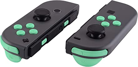 eXtremeRate Mint Green Replacement ABXY Direction Keys SR SL L R ZR ZL Trigger Buttons Springs, Full Set Buttons Repair Kits with Tools for Nintendo Switch Joy-Con JoyCon Shell NOT Included