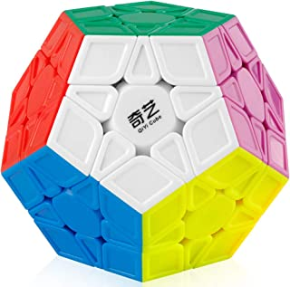 Coogam Qiyi Megaminx Cube Sculpted Stickerless 3x3 Pentagonal Dodecahedron Speed Cube Puzzle Toy (Qiheng S Version)
