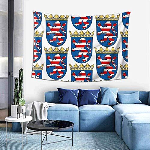 shibeili Escudo de Armas de Hesse, Alemania Interesante Sala de Estar Dormitorio Colgante de Pared (60X40 Pulgadas)