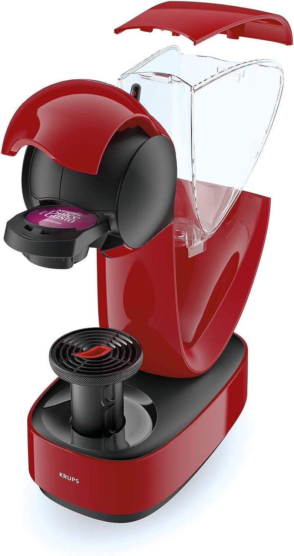 Krups YY3877FD Machine à Café Manuelle Nescafé Dolce Gusto Infinissima Capsules Multi Boissons Espresso Cappuccino Chocolat Thé 15 Bars Rouge Rouge