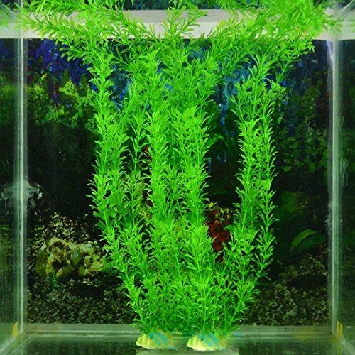Luwu-Store Planta acuática Artificial de plástico, Color Verde, para decoración de peceras