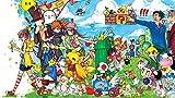 Póster de Mario Bros The Legend of Zelda Pokemon 30,5 x 45,7 cm (multicolor)