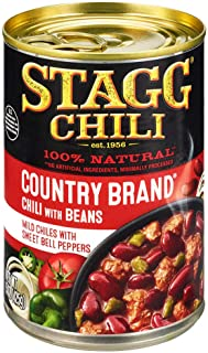 Stagg Country Brand Chili with Beans, 15 Ounce (Pack of 6)
