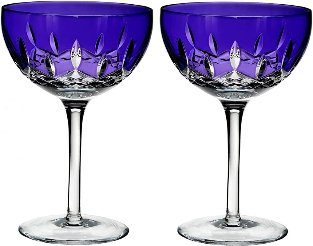 Waterford Lismore Pops Purple Cocktail Pair 10 Ounce