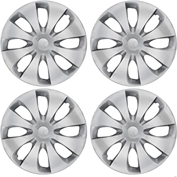 """4 15/"""" Silver Hubcaps for Toyota Prius 10-15 Set of Heavy Duty Wheel Covers"""