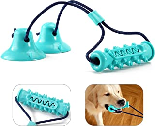 Suction Cup Dog Toy - Tug Toy for Dogs - Puppy Teething Chew Toys - Improves Pet's Dental Health and IQ - Relieves Pet Anx...