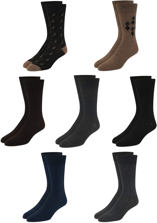 Van Heusen Cash special price Men's Seasonal Wrap Introduction Dress Socks - Mid-Calf Crew S Lightweight