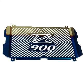 MeterMall Accesorios de la Motocicleta Protector del radiador Protector Rejilla Cubierta de la Parrilla para Kawasaki Versys 650 KLE650 15-17 Negro