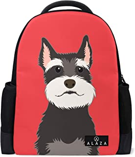Mydaily Schnauzer Dog Backpack 14 Inch Laptop Daypack Bookbag for Travel College School