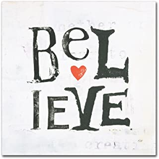 Believe by Kellie Day, 18x18-Inch Canvas Wall Art