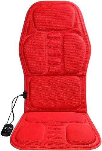 WXX Vibration Massage Matelas, Cou et Dos Masseur Shiatsu Massage Coussin Chaise avec pétrissage Hanche Muscle Vibration Bureau Maison et Voiture Utilisation