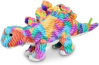 Gitzy Tie Dye Stuffed Dinosaur Toy - Stuffed Animal for Kids - Plush Stegosaurus