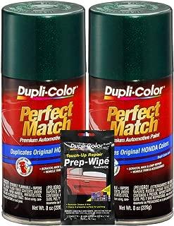 Dupli-Color Clover Green Pearl Exact-Match Automotive Paint - 8 oz, Bundles Prep Wipe (3 Items)