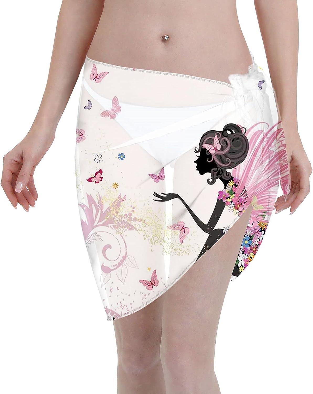 niBBuns Women Beach Sheer Bikini Wraps Chiffon Cover Ups for Summer Multicolor