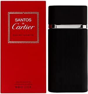 Cartier Santos De Eau de Toilette Spray for Men, 3.3 Ounce