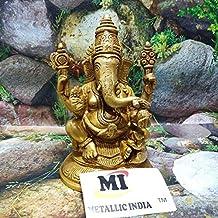 Metallic India Metallic India Brass Lakshmi Ganesha Statue in Sitting Position from vrindavan Gold Item