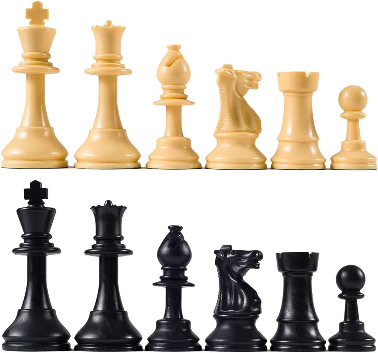 Quality Club Chess Pieces with 3 3 4  King
