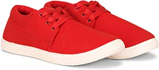 NACMHEE Kid's Boys Soft Fabric Upper Comfortable Textured Sole Laced Up Outdoor Sports Running,Walking,Training & Gym Casual Sneakers Shoes for Boys