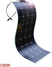MXX 130 Watt 12 Volt Extremely Flexible Monocrystalline Solar Panel - Ultra Lightweight, Ultra Thin, for RV, Boats, Roofs, Uneven Surfaces, Efficient, Convenient and Fast
