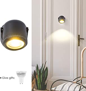 GORGAN Up Down Adjustable Outdoor Wall Light 120Lm/w Waterproof Wall Wash LED Aluminum Cylinder Exterior Matte Wall Sconce Small Lamp for Gallery Garden Patio Pathway Staircase Balcony Drive Way Black