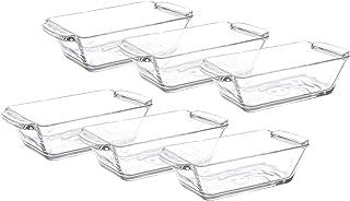 مجموعة اطباق زجاجية مستطيلة من ايميدج جروب K70 - 6 قطع - 175 مل