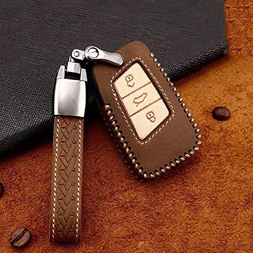Funda de piel con tapa para llave de coche, para Volkswagen Passat Golf Mk5 Bora Caddy 5 B6 Tiguan Golf 4 5, para asiento, para Skoda Key Cover Fob Holder Llavero Anillo