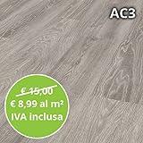 pavimento in laminato rovere grigio confezione da 2.47 mq | ac3