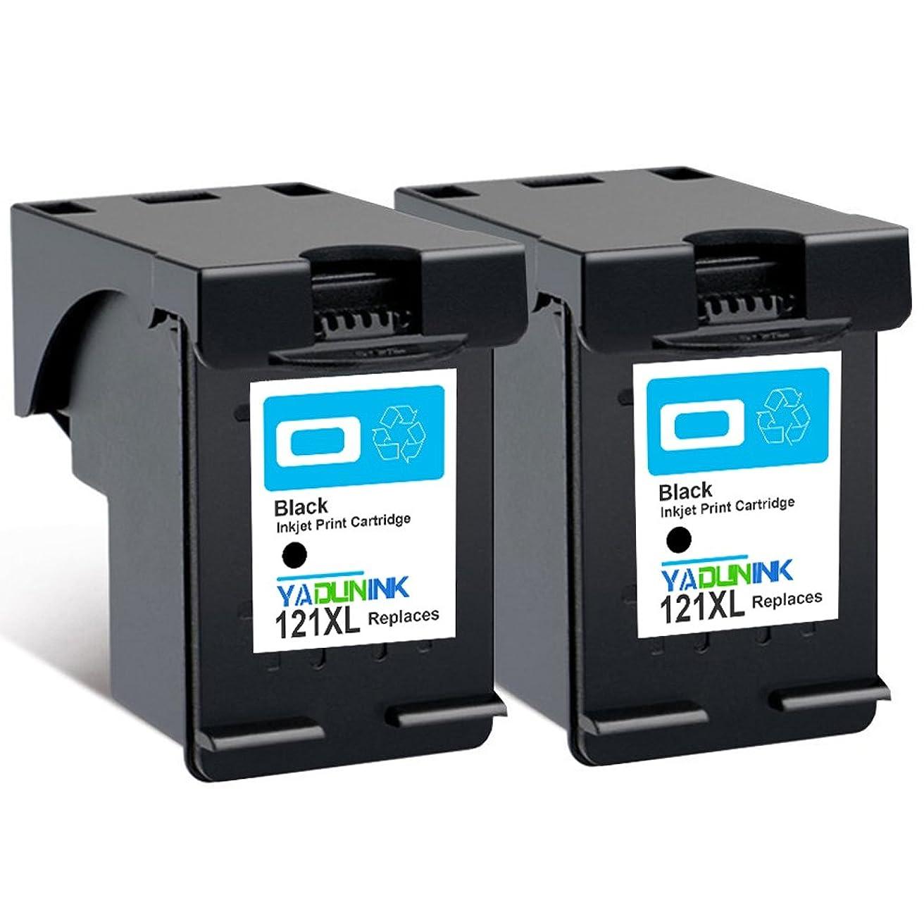 離婚便利芸術的YADUNINK HP121XL ブラック2個 CC641HJ 大容量 リサイクル インク HP121 増量 ブラック インクカートリッジ 黒 2個パック マルチパック 対応機種HP ENVY 100 ENVY 110 ENVY 120 ENVY 121 (【2BK】)?