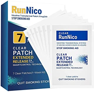 RunNico 21mg Nicotine Patches 7Pcs Step 1,2,3 Stop Smoking Aid,Nicotine Transdermal System,Smoking Cessation Products
