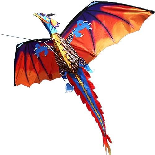GUNDAN Cerf-Volant Dragon Classique De Haute Qualité, Queue 140Cm X 120Cm, avec Poignée Et Linéaire, Bon Cerf-Volant Volant Adulte