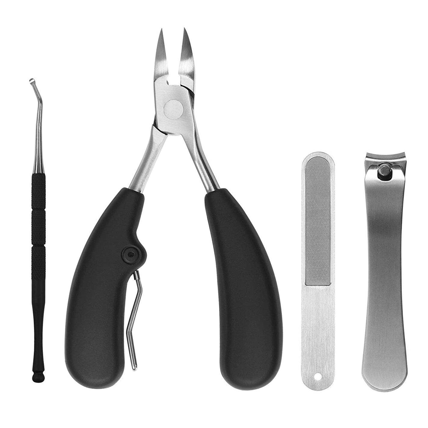 具体的に縮約ベンチャー爪切り ステンレス製爪切りセット 甘皮ケアツール 収納ケース付き