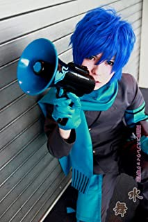 Mzcurse Vocaloid Kaito Short Blue Layered Cosplay Costume Party Hair Wig