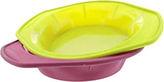 Elbee Baking Non Stick Durable Silicone Pie Pans Set, Thick Steel Reinforced Rim for Easy and Stable Movement, Great for Pies, Cake, Quiche, Tart and more