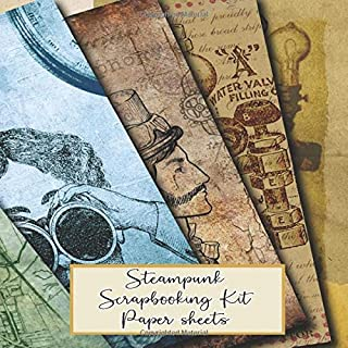 Steampunk scrapbooking kits paper sheets: Scrapbooking kit in a book for creating your own sketchbooks - Emphera elements ...