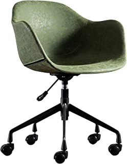 Silla de Escritorio de Oficina Silla de escritorio de oficina para el hogar sin apoyabrazos, silla reclinable giratoria ergonómica Silla de computadora cómoda de altura ajustable de cuero PU