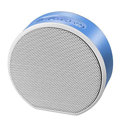 Mini Retro houtnerf TF-kaart subwoofer Bass Stereo Wireless Bluetooth-luidspreker, blauw