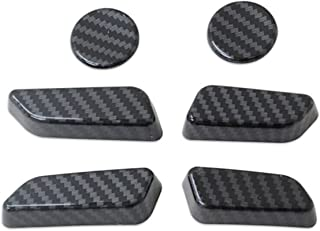 HUAER 6PCS FIT FÖR TESLA MODELL Y 2021 CARBON FIBER SEAT JUSTERING SWITCH BUTTRE TRIM COVER ABS Car Interior Sticker Tillb...