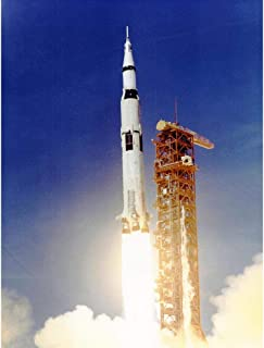 Wee Blue Coo Space Apollo 11 Launch Saturn V Rocket Blast Thrust Flame USA Unframed Wall Art Print Poster Home Decor Premium