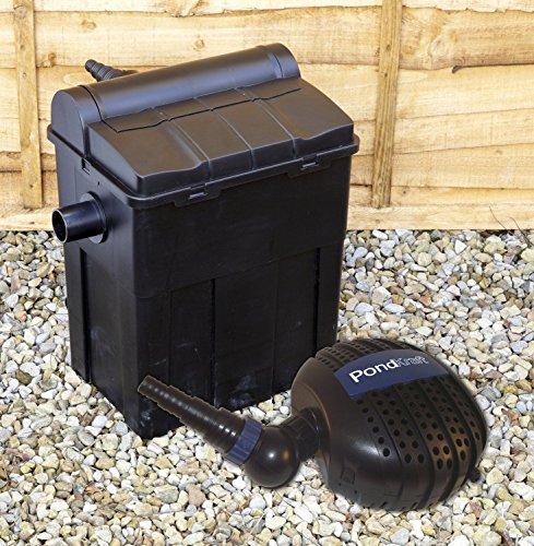 PondKraft Box Kit de filtros 9000 con Bomba de Filtro UVC 11 W Incluido, Set de Filtro para Estanque, Manguera y Clips Gratis.