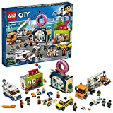 LEGO City Donut Shop Opening 60233 Store Opening Build and Play with Toy Taxi, Van and Truck with Crane, Easy Build with Minifigures for Boys and Girls (790 Pieces)