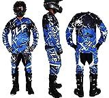 JLP Racing - Conjunto de ropa para niño de 10 a 12 años para motocross, Quad MTB, BMX, MTB, pantalón azul, talla 26US/XL