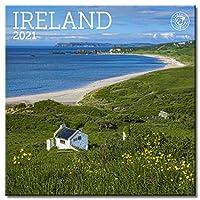 アイルランド ミニ壁掛けカレンダー 2021 7インチ x 7インチ