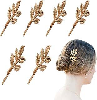 OBTANIM 6 Pcs Gold Mini Leaf Hairpin Cute Metal Olive Branch Leaves Hair Clips Barrette for Bride Girls Wom...