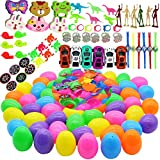 60 Pieces 2 ⅜'Easter Eggs Filled Different Kinds of Surprise Plastic Eggs with Toys Inside, Each Perfect for Basket Stuffers,Theme Party Favor Suitable for Kids Birthdays, Festival Gifts Learning Toys