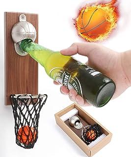 juman634 Apribottiglie da Basket , Cavatappi , Appeso A Parete Apribottiglie Magnete Magnete per Frigo Cacciavite da Birra Creativo Tappo da Basket per Ufficio Bar