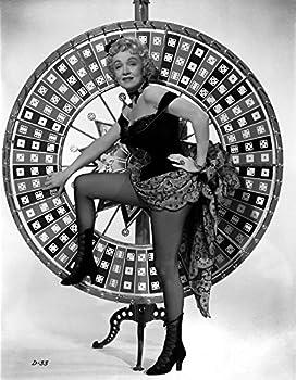 Marlene Dietrich standing One Leg in Black Lingerie with Heels Photo Print  8 x 10