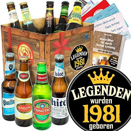 Legenden 1981 - Biere aus aller Welt - Geschenk für Mann zum Geburtstag