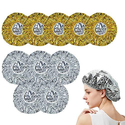 Gorro de Ducha Aluminio, ZoneYan 10Pcs Aluminio Gorro de...