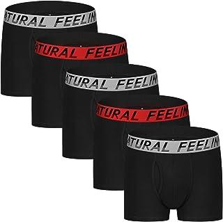 Natural Feelings Mens Underwear Trunks fashion Underwear Breathable Cotton boxer briefs for Men
